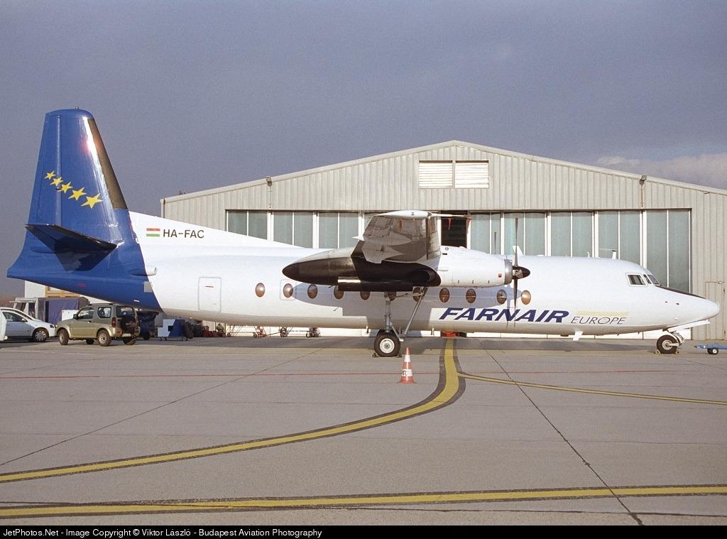 HA-FAC - Fokker F27-500 Friendship - Farnair Hungary