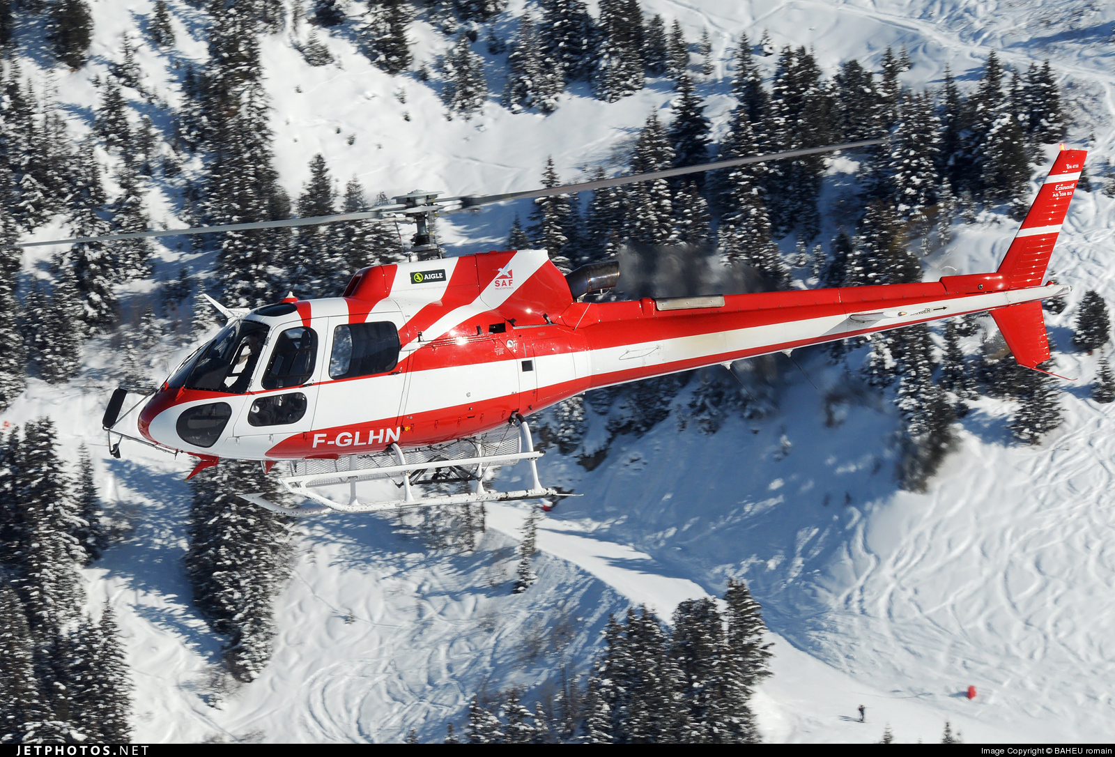 F-GLHN - Aérospatiale AS 350B3 Ecureuil - SAF Hélicoptères - Service Aérien Français
