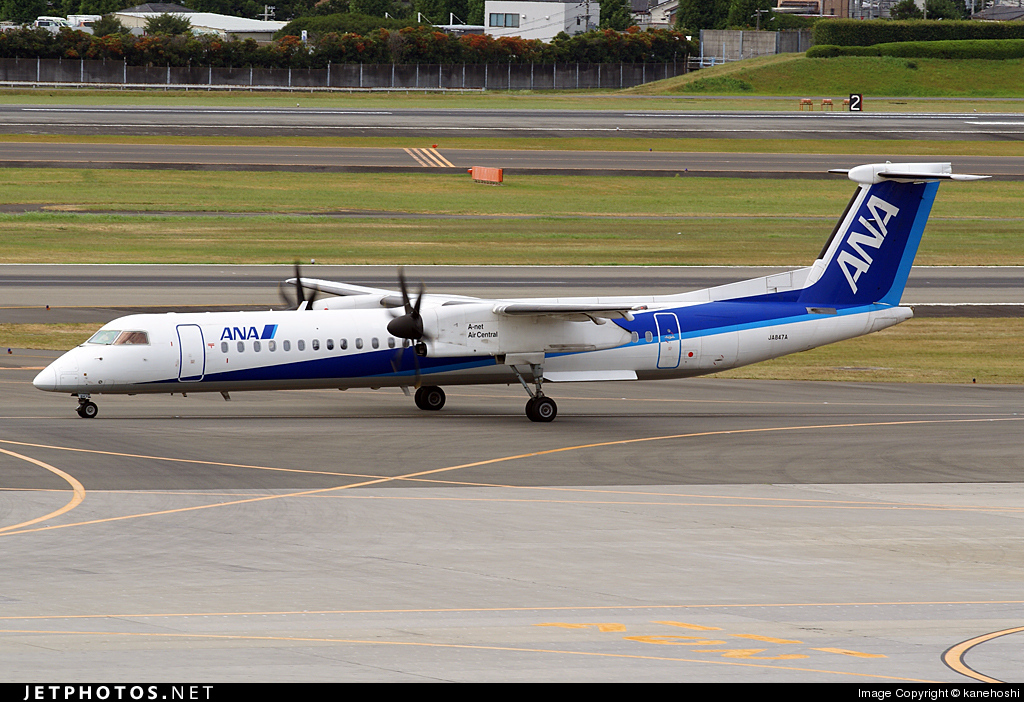 JA847A - Bombardier Dash 8-Q402 - All Nippon Airways (Air Central)