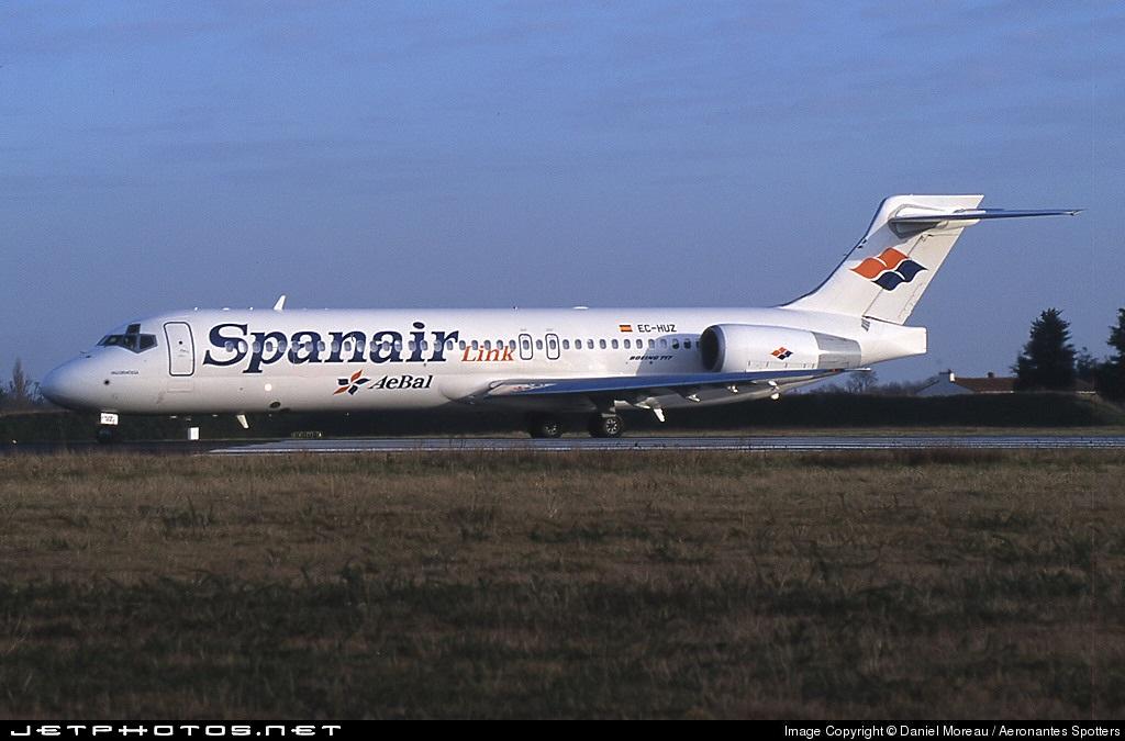 EC-HUZ - Boeing 717-23S - Spanair Link (AeBal)