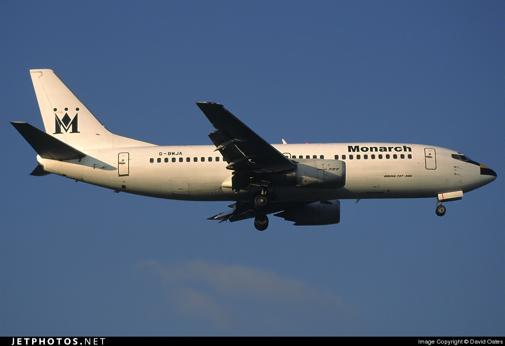 G-BWJA - Boeing 737-3Y0 - Monarch Airlines