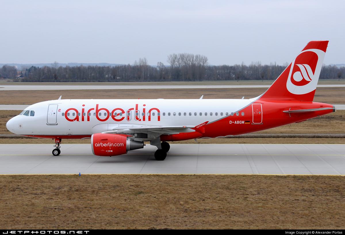 D-ABGM - Airbus A319-112 - Air Berlin