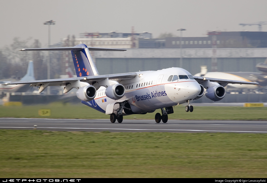 OO-DJY - British Aerospace Avro RJ85 - Brussels Airlines