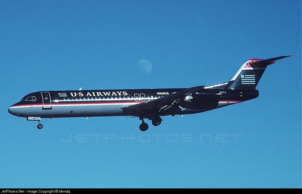 N868US - Fokker 100 - US Airways
