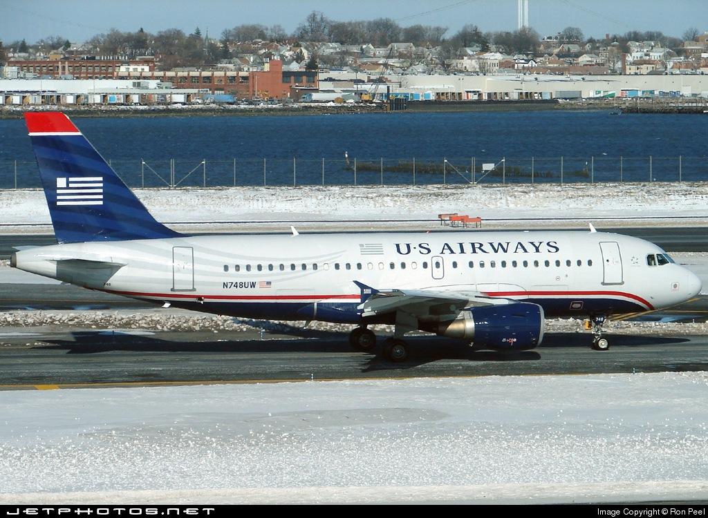 N748UW - Airbus A319-112 - US Airways