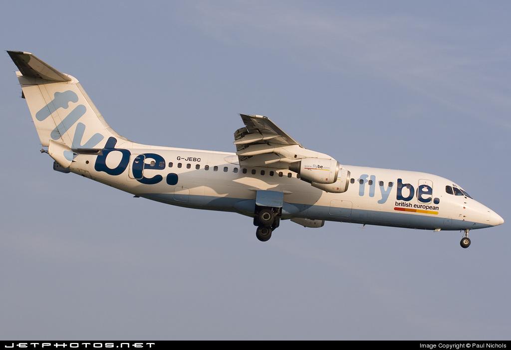 G-JEBC - British Aerospace BAe 146-300 - Flybe