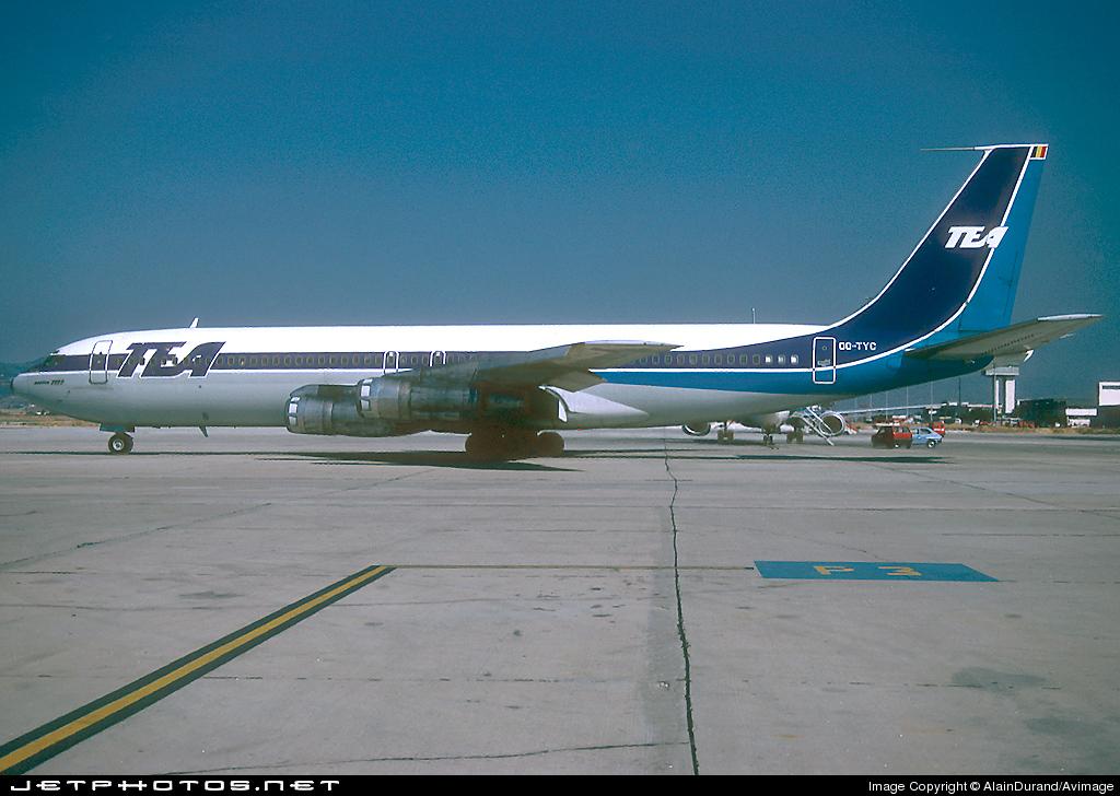 OO-TYC - Boeing 707-328B - TEA - Trans European Airways