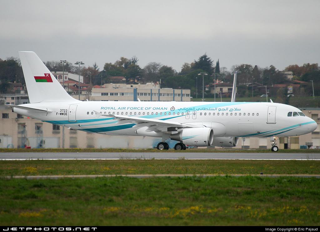 F-WWDE - Airbus A320-214(CJ) Prestige - Oman - Royal Air Force