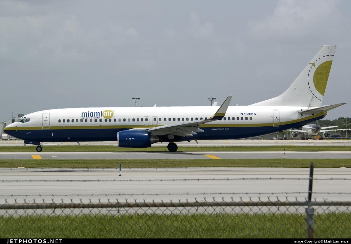 N734MA - Boeing 737-8Q8 - Miami Air International