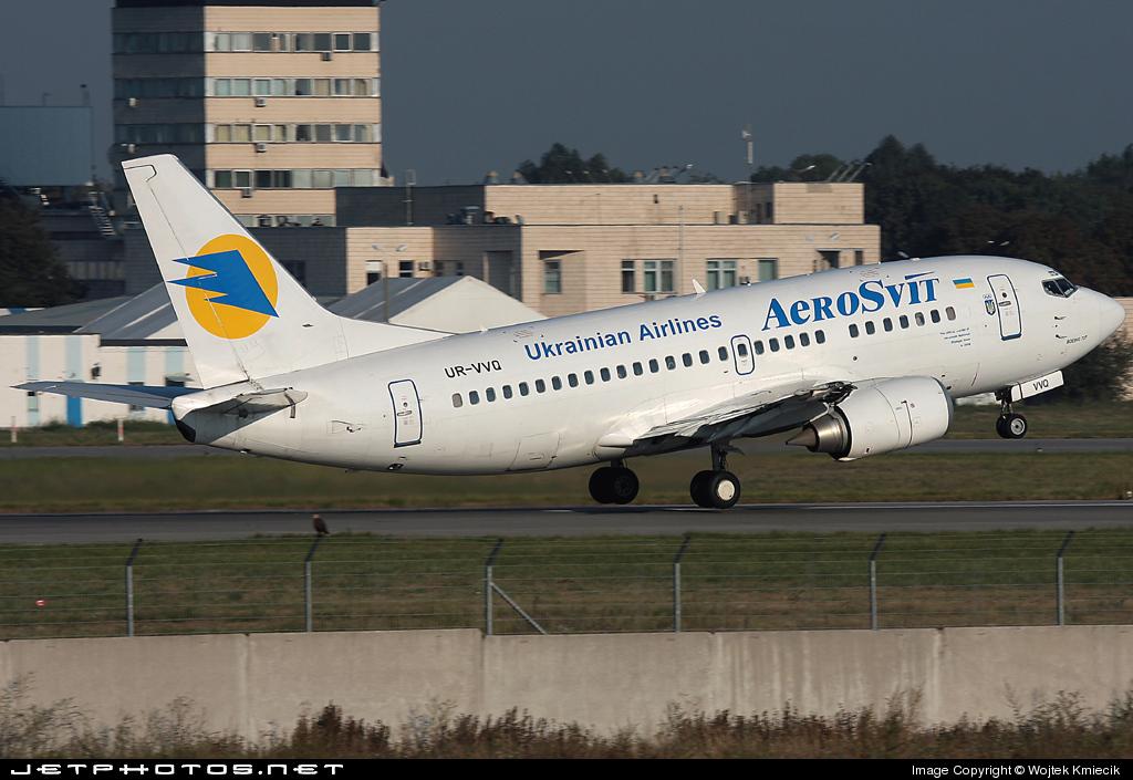 UR-VVQ - Boeing 737-5L9 - AeroSvit Ukrainian Airlines