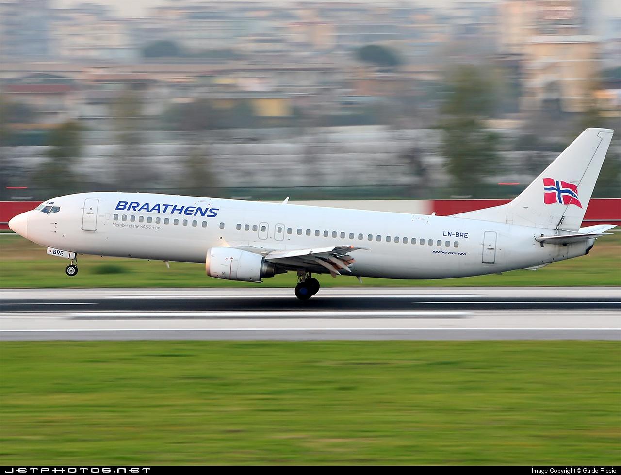LN-BRE - Boeing 737-405 - Braathens