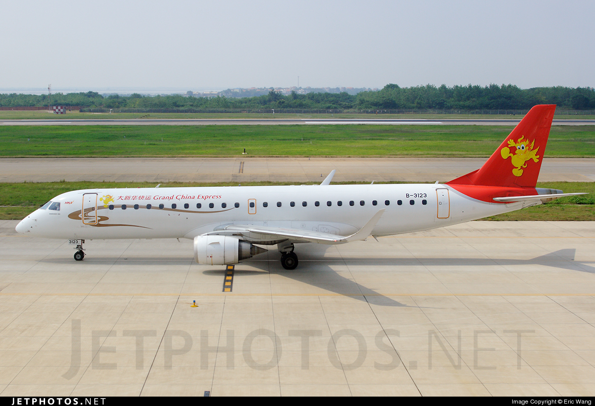 B-3123 - Embraer 190-100IGW - Grand China Express