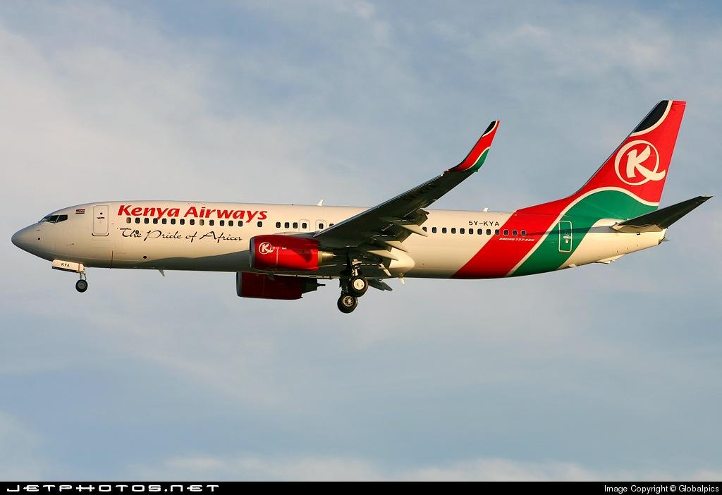 5Y-KYA - Boeing 737-8AL - Kenya Airways