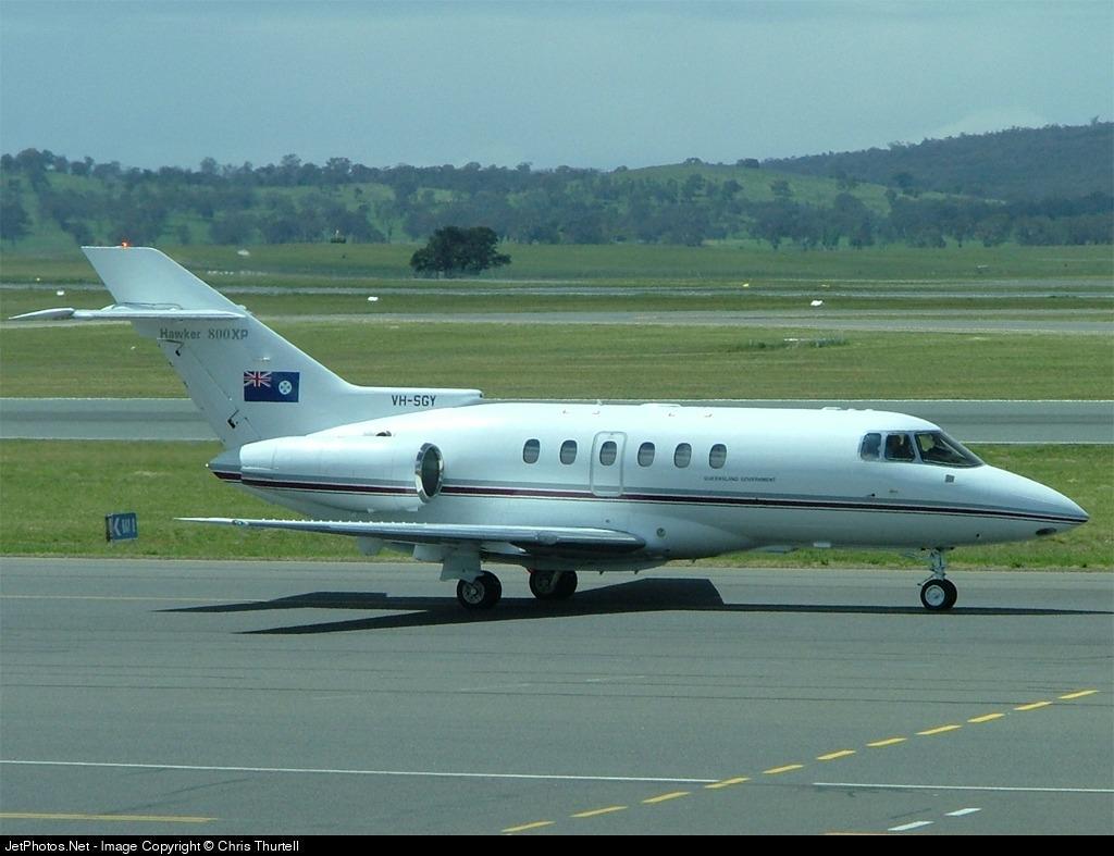 VH-SGY - Raytheon Hawker 800XP - Australia - Queensland Government