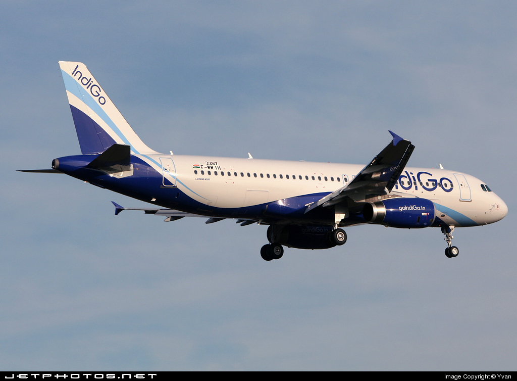 F-WWIH - Airbus A320-232 - IndiGo Airlines