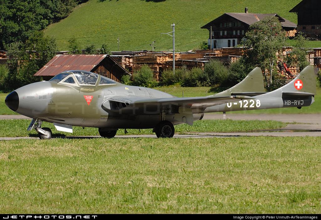 HB-RVJ - De Havilland DH-115 Vampire - Private