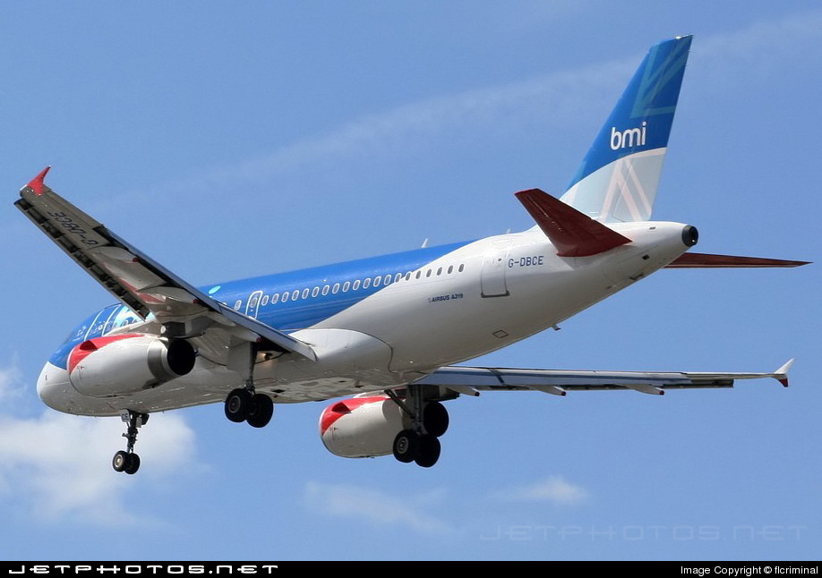 G-DBCE - Airbus A319-131 - bmi British Midland International
