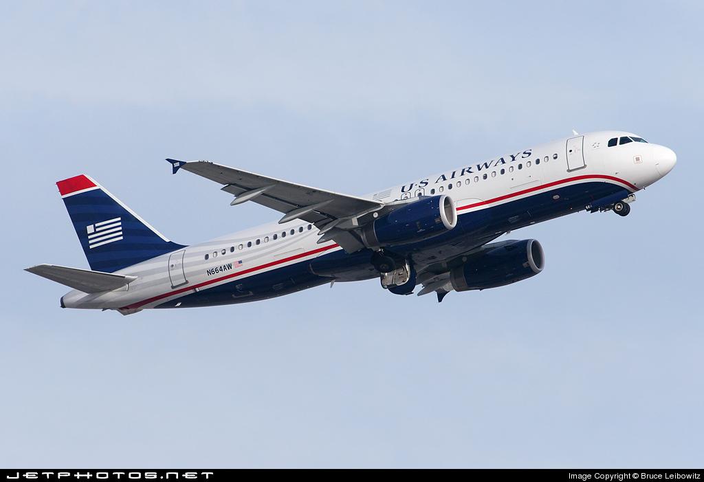 N664AW - Airbus A320-232 - US Airways