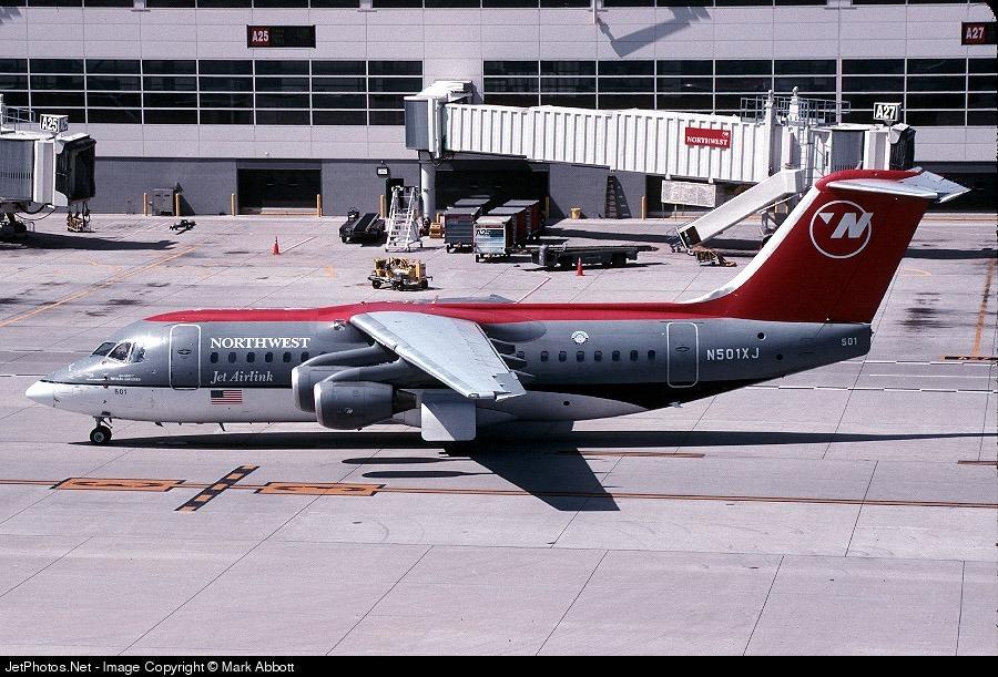 N501XJ - British Aerospace Avro RJ85 - Northwest Airlink (Mesaba Airlines)