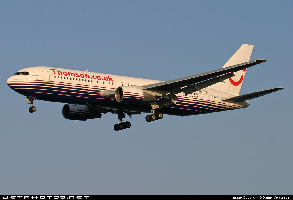 G-BRIG - Boeing 767-204(ER) - Thomsonfly (Britannia Airways)