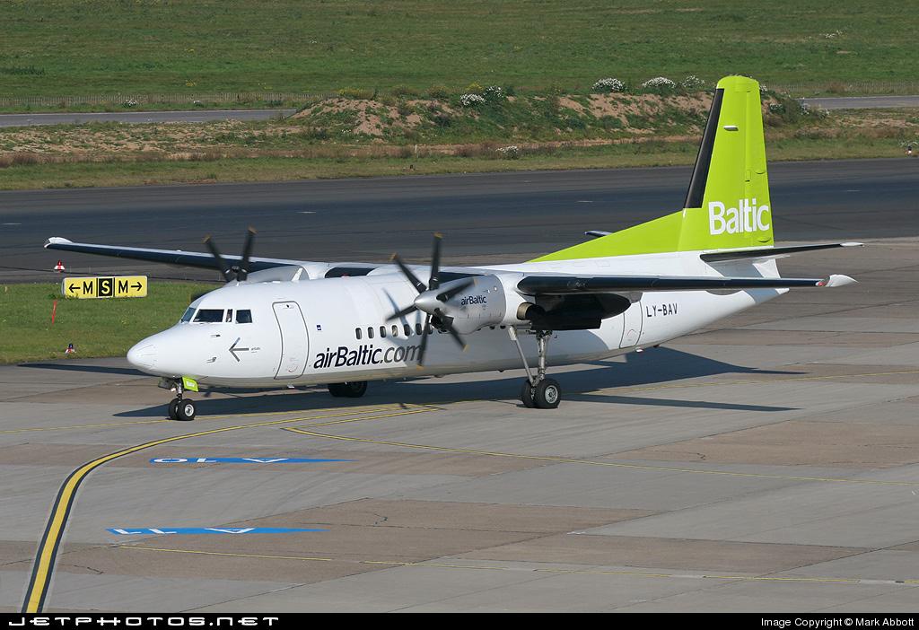 LY-BAV - Fokker 50 - Air Baltic