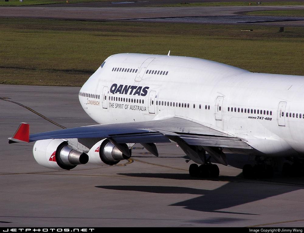 VH-OED - Boeing 747-4H6 - Qantas