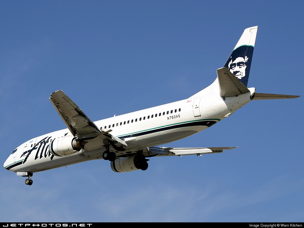 N760AS | Boeing 737-4Q8 | Alaska Airlines | Warn Kitchen | JetPhotos