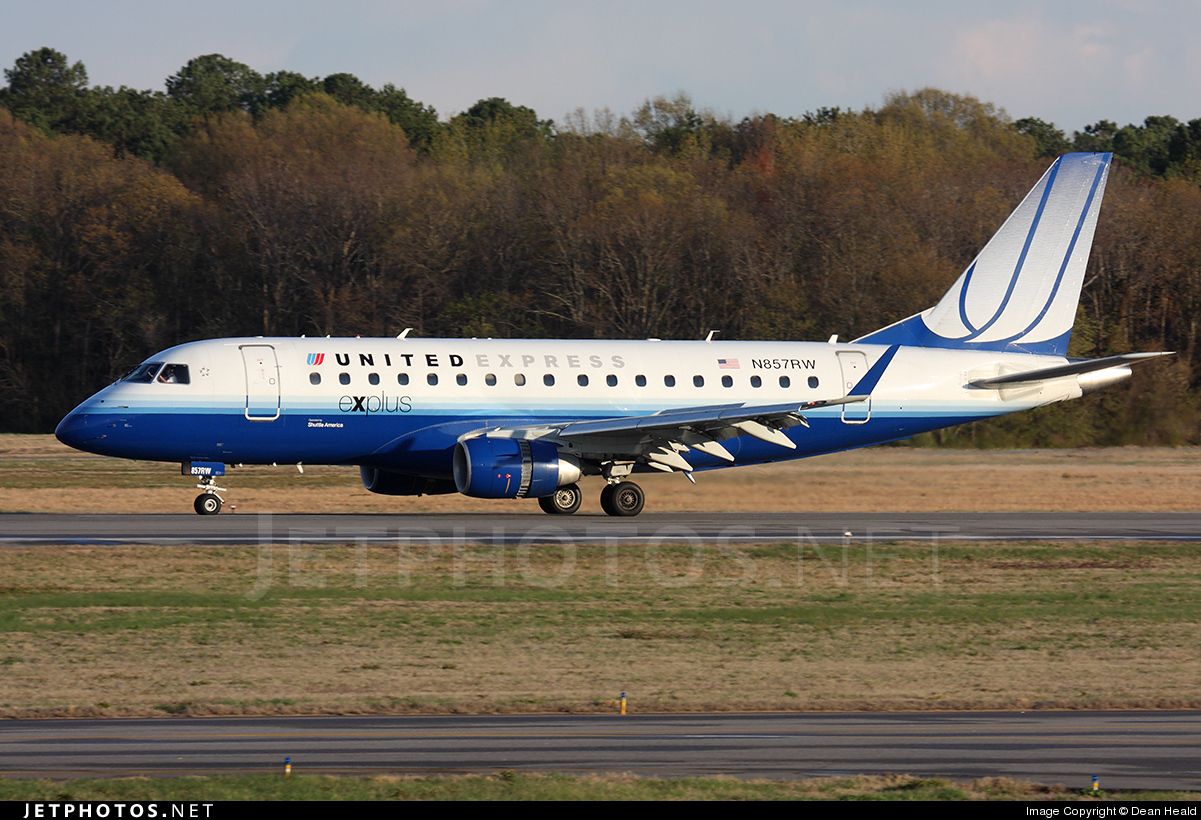N857RW - Embraer 170-100SE - United Express (Shuttle America)