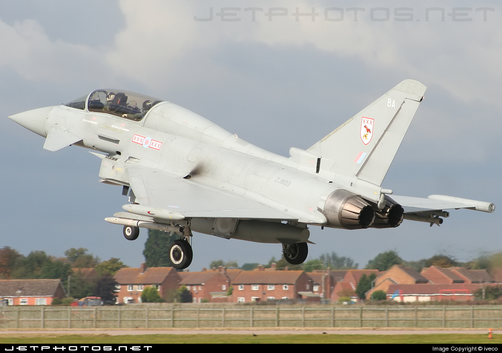 ZJ803 - Eurofighter Typhoon T.1 - United Kingdom - Royal Air Force (RAF)