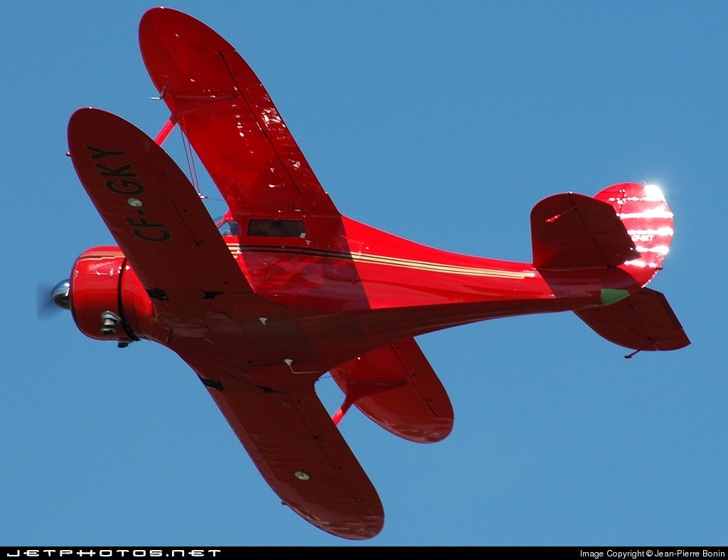 CF-GKY - Beechcraft D17S Staggerwing - Vintage Wings of Canada
