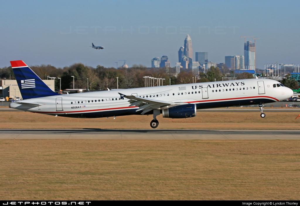 N508AY - Airbus A321-231 - US Airways