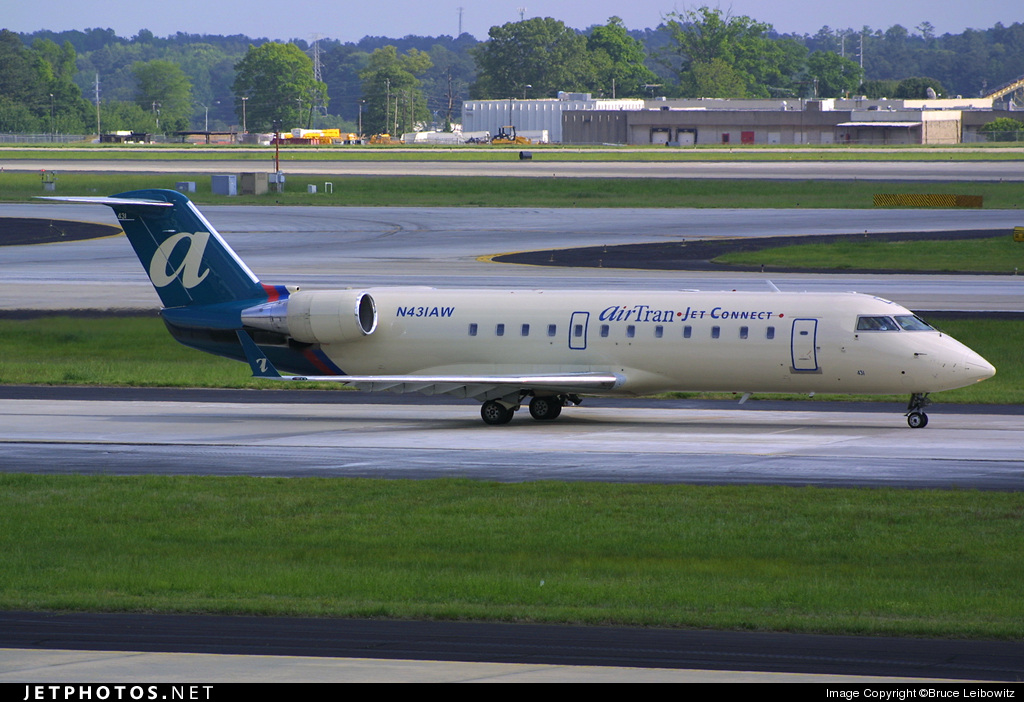 N431AW - Bombardier CRJ-200LR - airTran Jet Connect (Air Wisconsin)