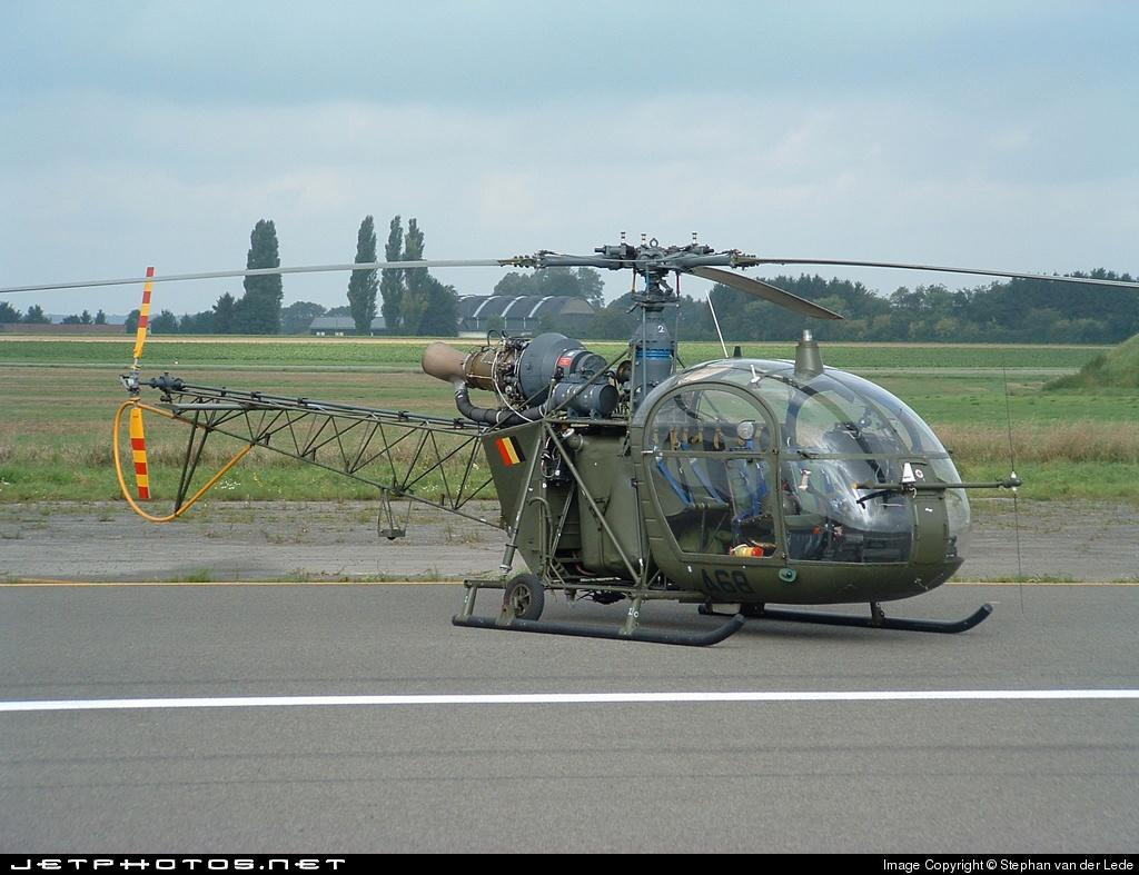 A68 - Aérospatiale SA 318C Alouette II - Belgium - Army