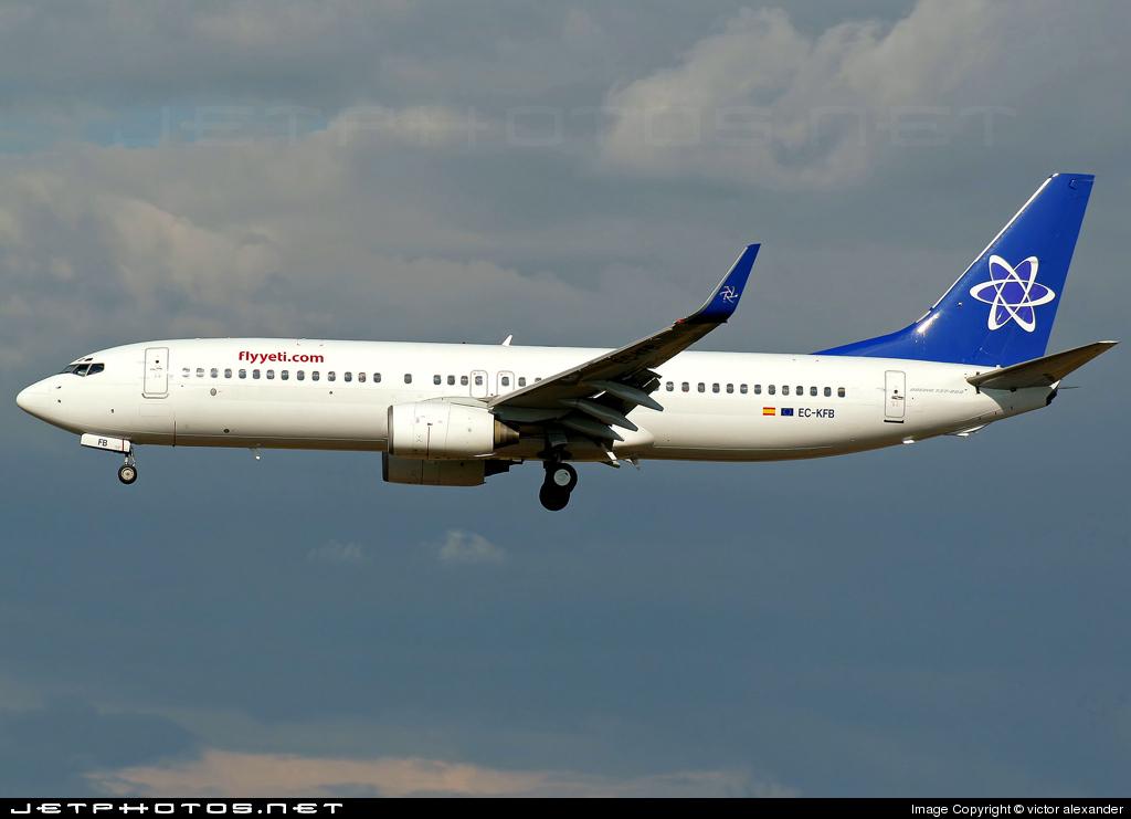 EC-KFB - Boeing 737-86N - Flyyeti.com (Futura International Airways)