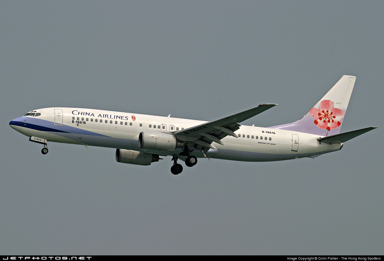 B-18616 - Boeing 737-809 - China Airlines