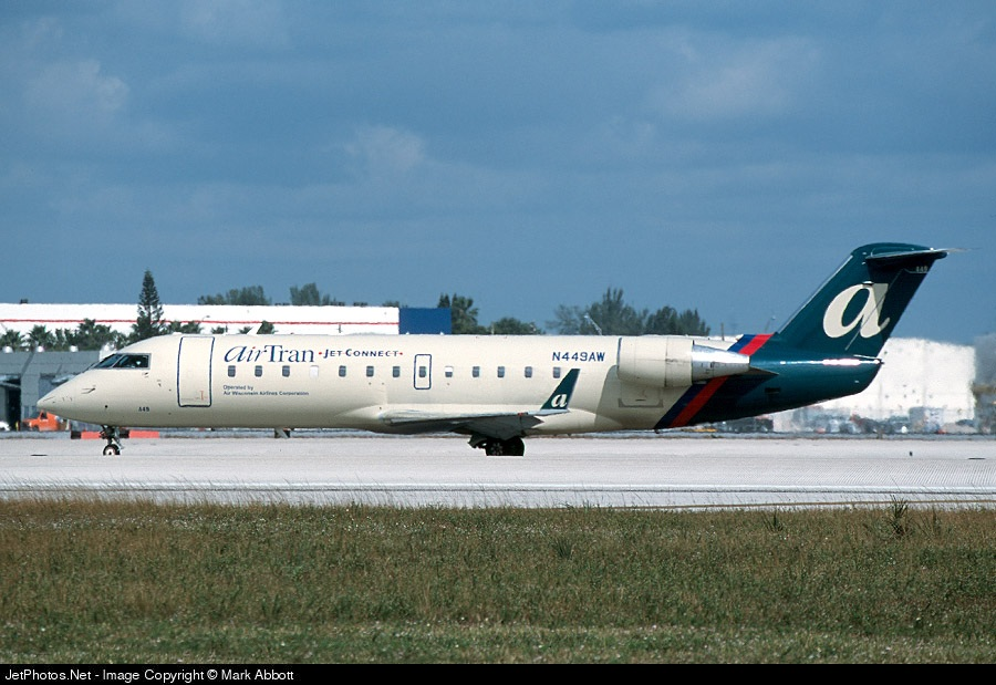 N449AW - Bombardier CRJ-200LR - airTran Jet Connect (Air Wisconsin)