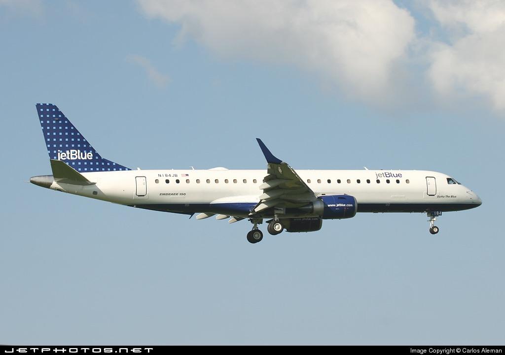 N184JB - Embraer 190-100IGW - jetBlue Airways