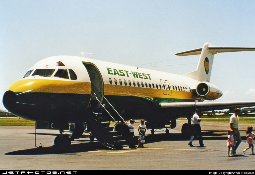 VH-EWC | Fokker F28-4000 Fellowship | East-West Airlines ...