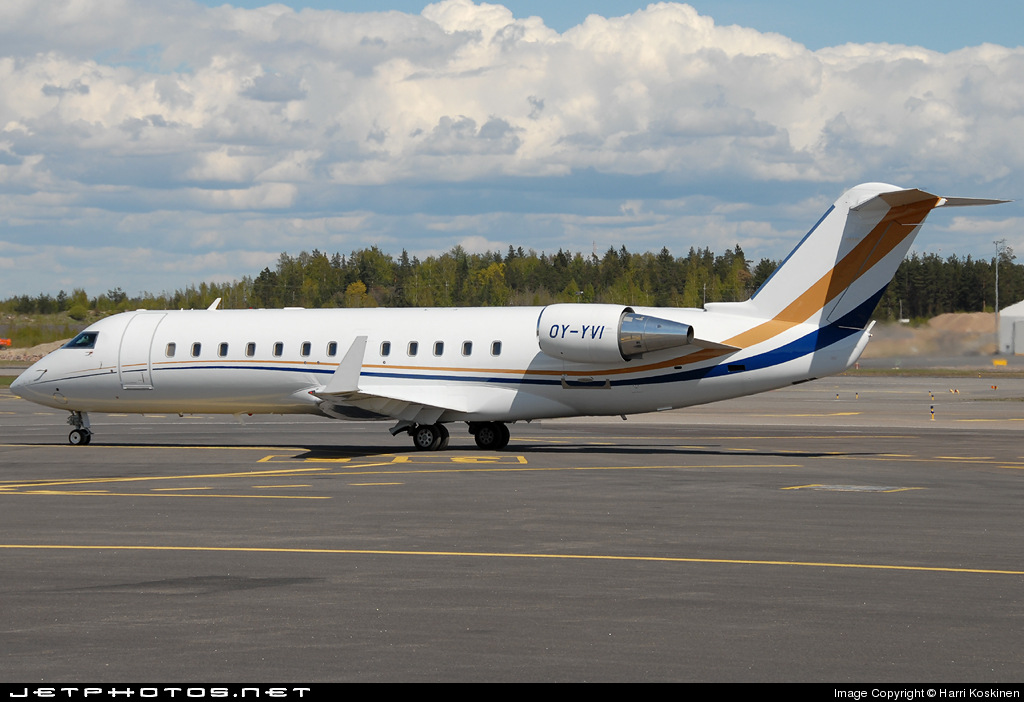OY-YVI - Bombardier CL-600-2B19 Challenger 850 - Execujet Scandinavia