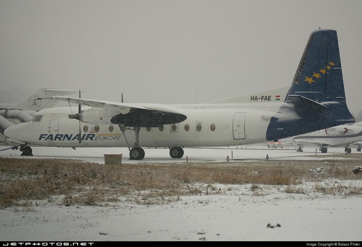 HA-FAE - Fokker F27-500 Friendship - Farnair Hungary