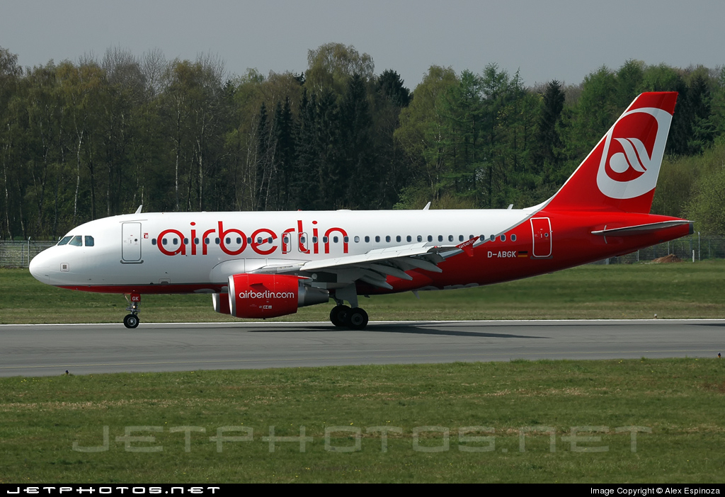 D-ABGK - Airbus A319-112 - Air Berlin
