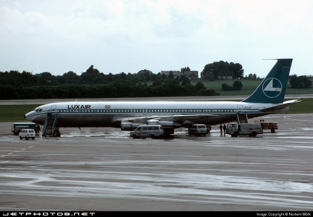LX-LGT - Boeing 707-344C - Luxair - Luxembourg Airlines