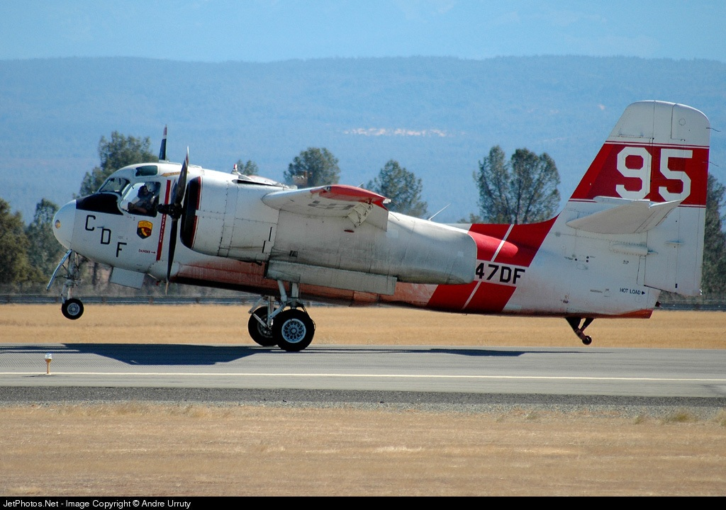 N447DF - Grumman TS-2A Tracker - United States - California Department of Forestry