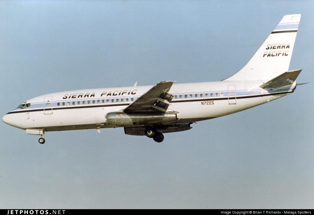 N722S - Boeing 737-281 - Sierra Pacific Airlines