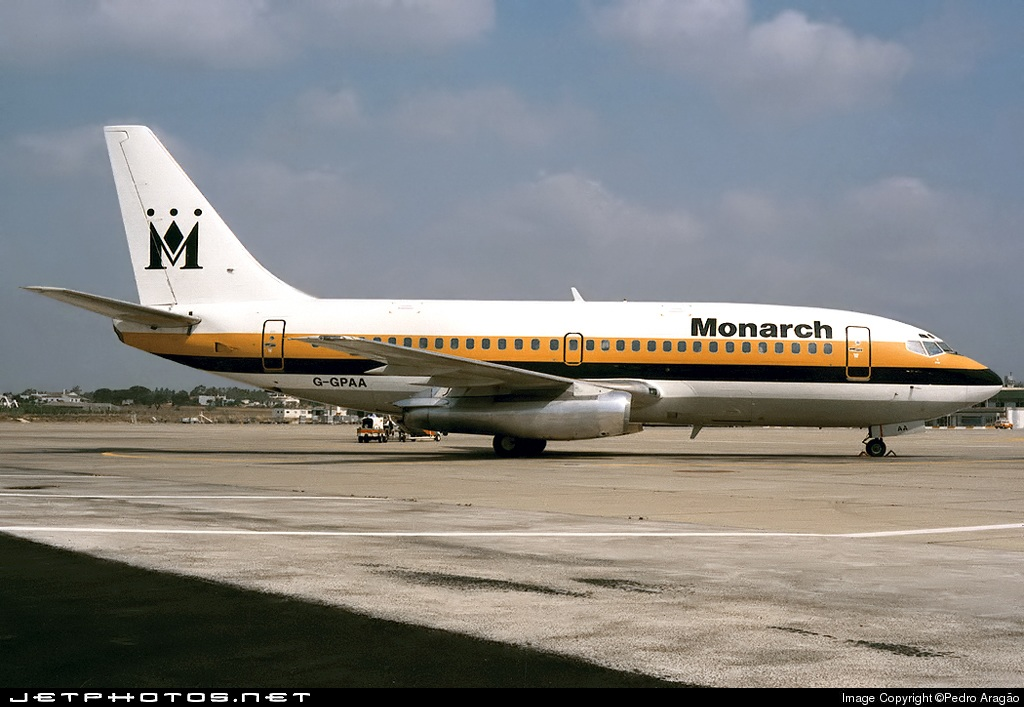 G-GPAA - Boeing 737-2T4(Adv) - Monarch Airlines
