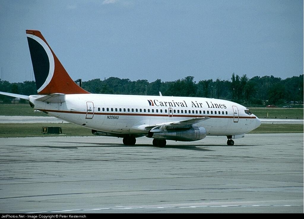 N206AU - Boeing 737-201 - Carnival Air Lines