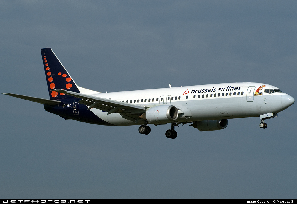 OO-VBR - Boeing 737-4Y0 - Brussels Airlines