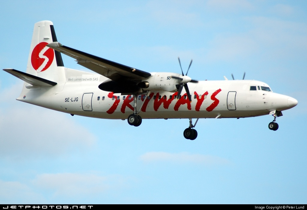 SE-LJG - Fokker 50 - Skyways