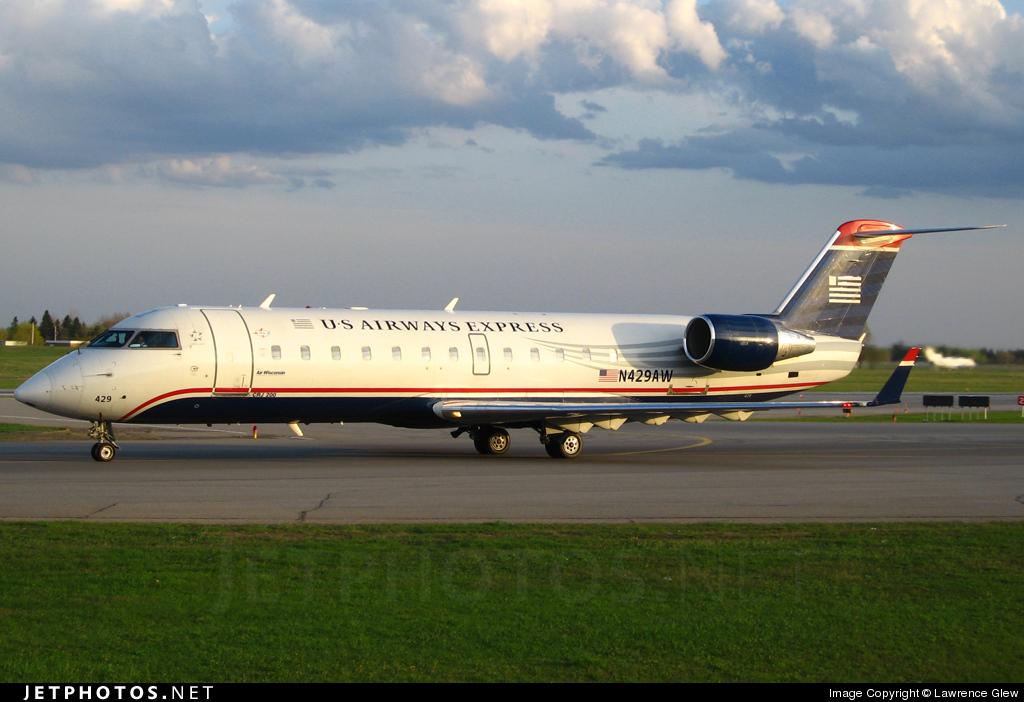 N429AW - Bombardier CRJ-200LR - US Airways Express (Air Wisconsin)