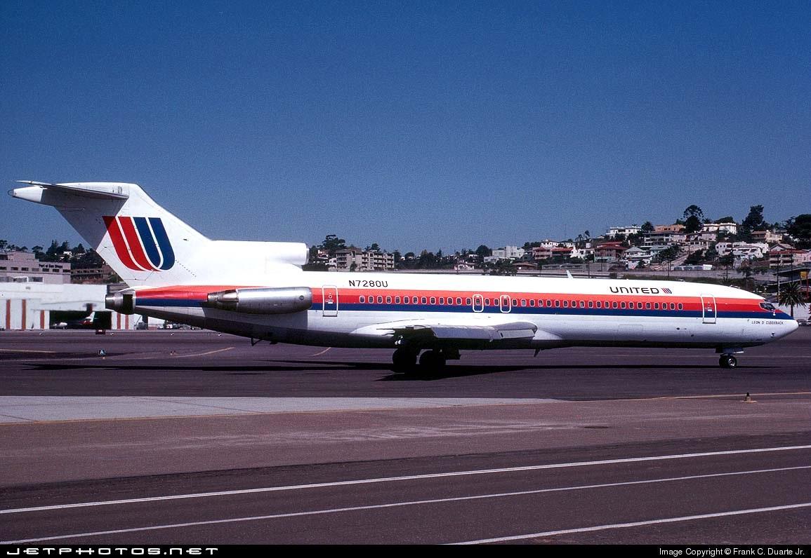 N7280U - Boeing 727-222(Adv) - United Airlines